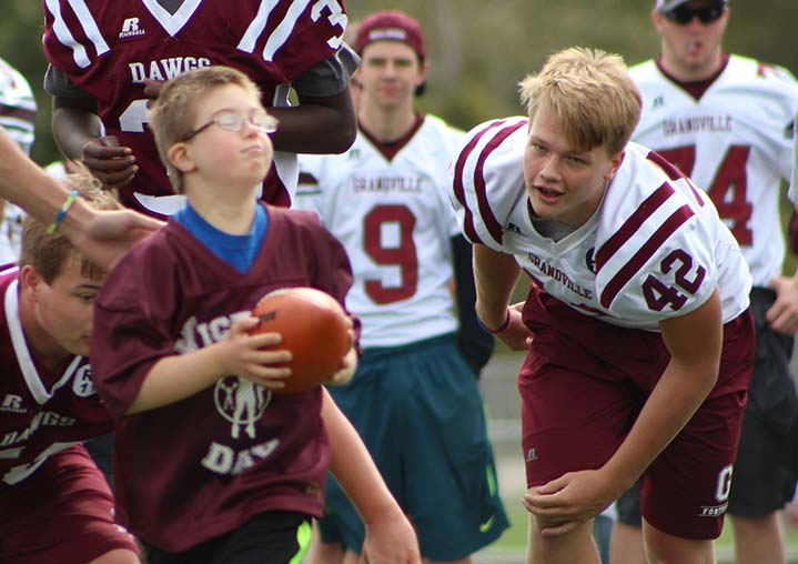 Grandville Scores Big with Victory Day