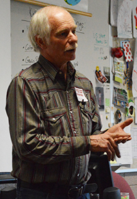 Tom Hoskins gives students a history lesson through the lens of a soldier during the 1960s
