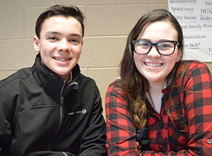 Juniors Brandon Sawade and Carly Hydes are glad to have first-person accounts in their project on the Vietnam War