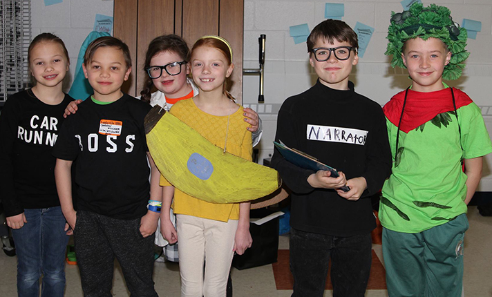 Rockford's Lakes Elementary team about to compete at the state finals, from left to right: Chloe Willner, Cannon Willner, Paige Parrott, Maelyn Lawrence, Coen Sparks, and Isaac DeGeest. Not pictured is Lincoln Shirley