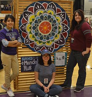 Sinai Salvador, Cecilia Medina and Bekah Luce created the mandala Circle of Art to symbolize restorative justice