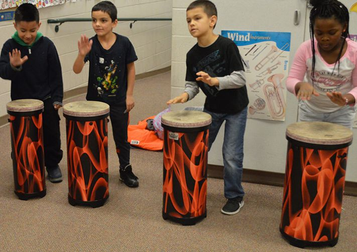 Students are using the instruments in class and for performing