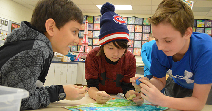 Evan Moreno, Maison Nawrocki and Preston Berta make clay characters for their video about smoking