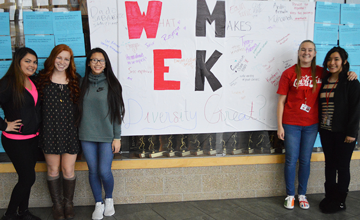 From left, Student Council members Mariah Short, Kylie Dunn, Ana Tran, Allison Biss and Alondra Salas led the effort tostart Culture Week