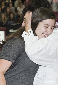 Laura Hernandez takes joy in her family's hugs