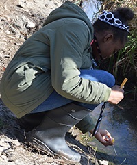Paris Thompson discovers the stream has dropped to 34.1 degrees