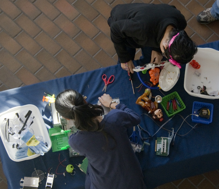 STEMosphere was nothing if not hands-on for these participants and other students around the area