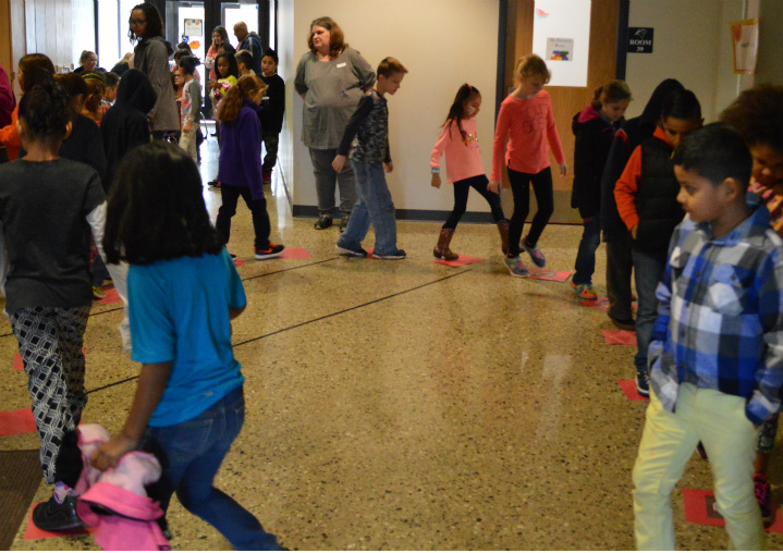 Students walk for cake and other treats