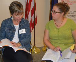 Cedar Trails teachers Jill Matthews and Michelle Conley discuss logical consequences for students' behavior