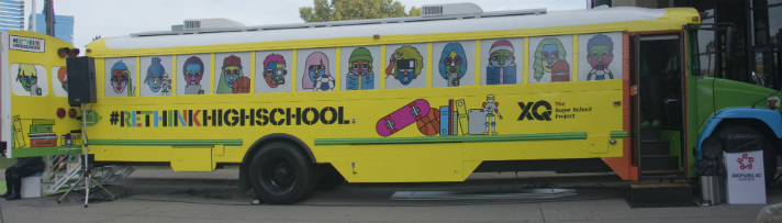 The XQ Super School Bus Tour pulled up to the Grand Rapids Public Museum this week