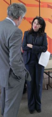 Amber Arellano discusses topics with Paul Reville