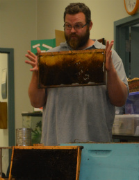 Saranac beekeeper Lee Bolt talks about the kinds of bees there are in Michigan