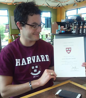 Harvard's official letter of acceptance