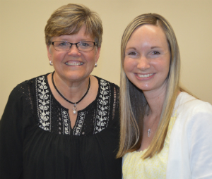 Counselors Sheila Dubbink, left, and Katie Erickson