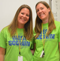Sisters Libby Klooster and Sarah David both impressed Godwin Height administrators with theirbackground