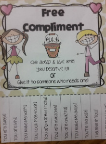 Compliments are free and anyone can give them
