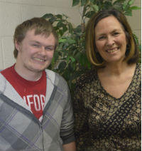 """He's just blossomed,"" Shelley Bauer says of Robert Brant, a student at New Beginnings High School"