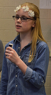 "Seventh-grader Arica Wade leads Queen's 1976 song, ""Somebody to Love"""