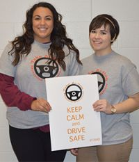 Seniors Ashley James and Lara Richardson helped organize the campaign