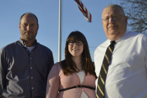 Heading up GRPS energy-saving efforts are (from left) Tim Hopkins, Kristen Trovillion and Kenneth Klomparens