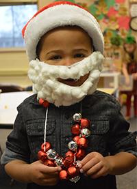 Aidan Palmer came to school dressed as Santa