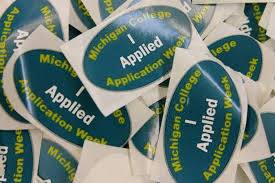 """Students wore """"I Applied"""" stickers after applying to colleges"""
