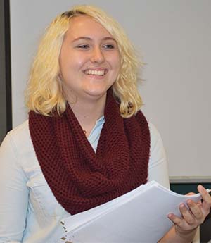 Comstock Park junior Rachel Lodes encourages girls to learn programming