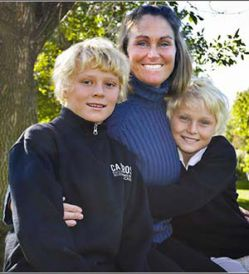 Nancy Haynes is an active parent at C.A. Frost Environmental Science Academy, where sons Tuck, left, and Tybee are fifth-graders