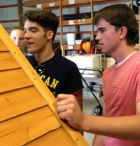Things take shape for the novice house builders