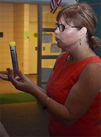 Comstock Park Public Schools nurse Tina Rodriguez said covering students health-care needs requires 'constantly being on your toes and on guard'