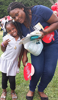 Alicia Allen hopes daughter Laticia improves her English and Spanish reading skills this year
