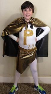 "Central Woodlands student Danny Burns gets into the superhero role for his team's ""Pandora 2.0"" entry"