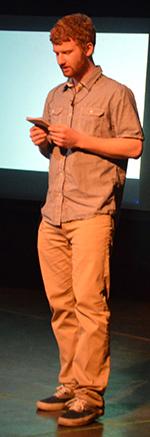 Senior Brandon Elliott gives his TEDx speech