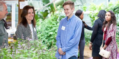 After the ceremony, students got to explore the Tech Center greenhouse