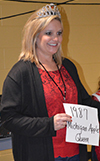 Second-grade teacher Stacey Alt was 1987 Michigan Apple Queen