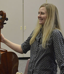 Director Wendy Tenney enjoys a light moment during rehearsal