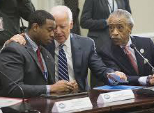 (courtesy photo) Watson consulting with Vice President Biden
