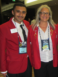 Luis Vinalay and Deb Riolo sporting their SkillsUSA jackets