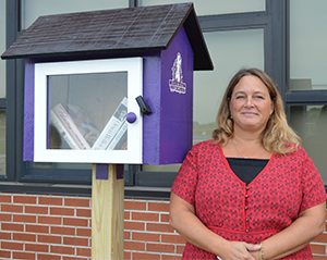 Teacher Tracey Davis-Replogle is building Little Free Libraries for Wyoming Public Schools