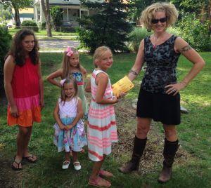 From left, Reese Hurley, Aubrey Grutter and Alexa Deising spent two summer days selling lemonade to raise money for Well House