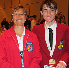 Skills USA Computer Programing Gold Medal winner Kallyn Gowdy with instructor Laurie Fernandaz