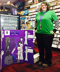 Rockford senior Jessica Madison unveils her classic beat-em-up style video game at the GameStop event