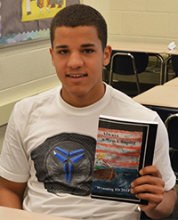 """Junior Juan Hernandez wrote about moving from Puerto Rico for the book """"Always a New Chapter"""""""