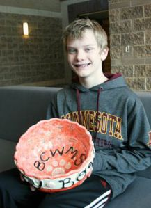 Byron Center West Middle School student Teagan Johnson gave his savings away to charity