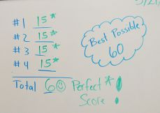 The Lakeside third-grade math team posted a perfect score