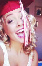 Alexis wearing her graduation cap