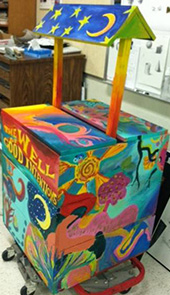 Club members created a wishing well for the Kentwood Public Library
