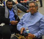 Faddis chats with MSU jazz players before holding a master class