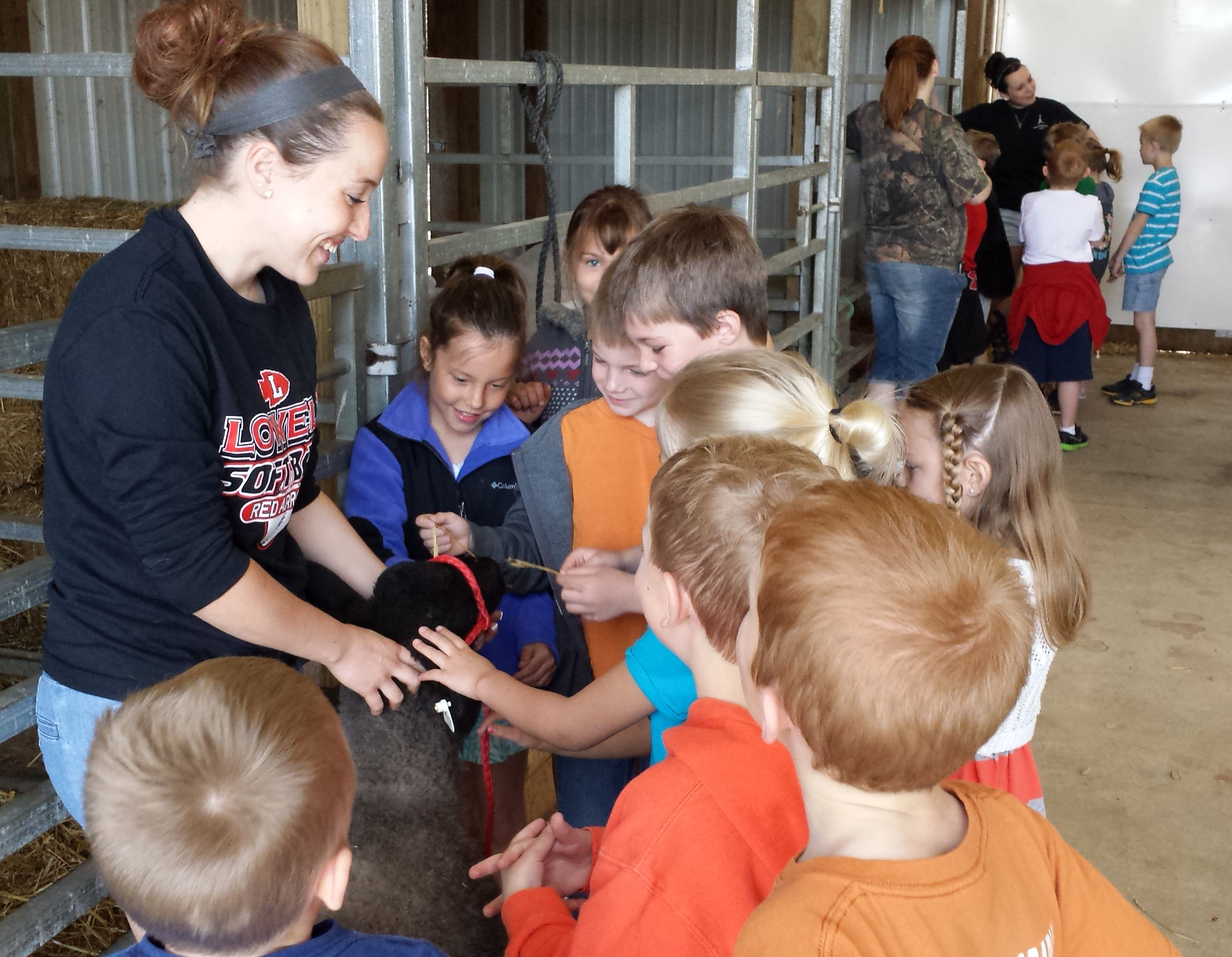 Students explore life in the barn at the Wege Center