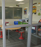 Small group rooms provide new space for quiet instruction